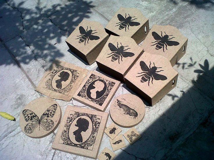 goni storage with various motive black printing