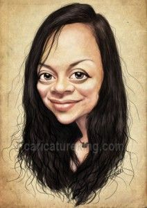 Caricature of a young woman #giftart #cariaturefromphoto #personalizedgiftidea