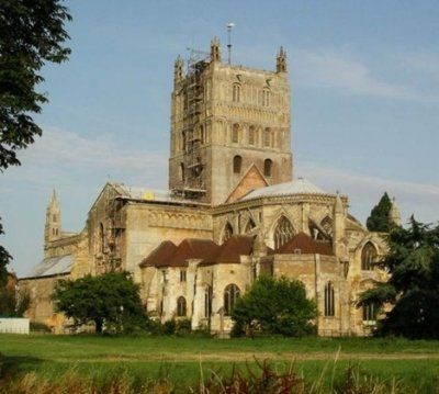 Tewkesbury Abbey in Gloucestershire - now restored - The Dissolution of the Monasteries