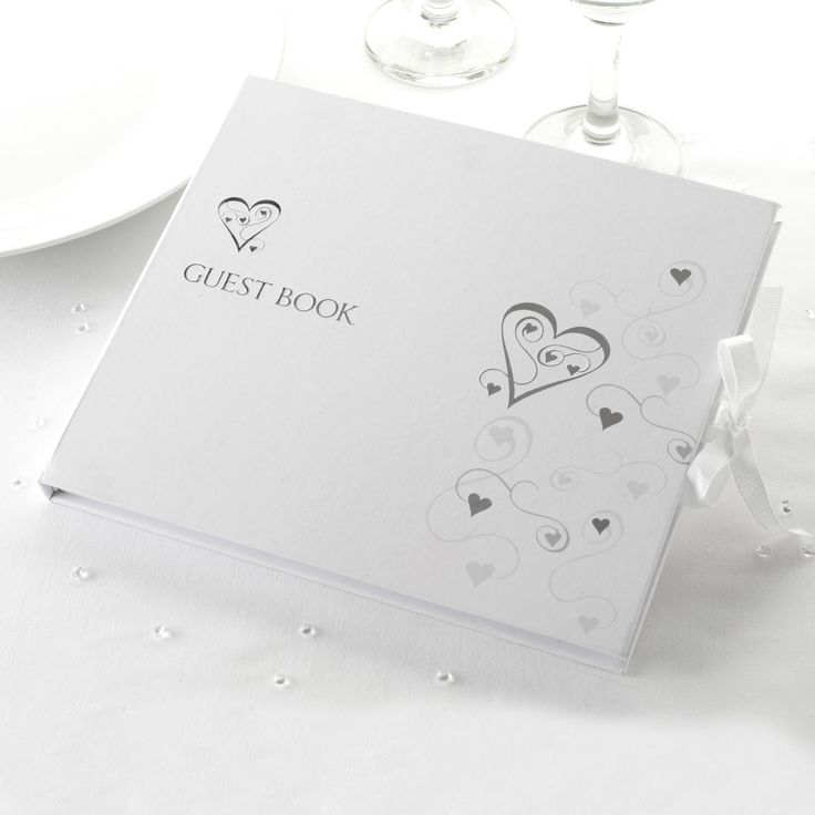 Contemporary Heart -Guest Book - Weddings