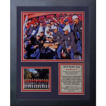 2016 Ryder Cup Champions, USA 11 inch x 14 inch Framed Photo Collage by Legends Never Die, Inc.
