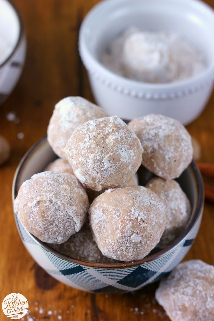 Spiced Eggnog Snowball Cookies Recipe from A Kitchen Addiction @akitchenaddict