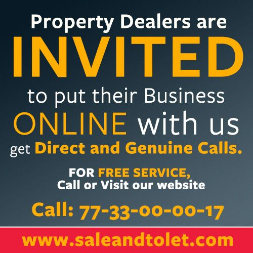 http://www.saleandtolet.com/ Property Dealers are INVITED to put their Business ONLINE with us Get Direct and Genuine calls For FREE SERVICE call 07733000017