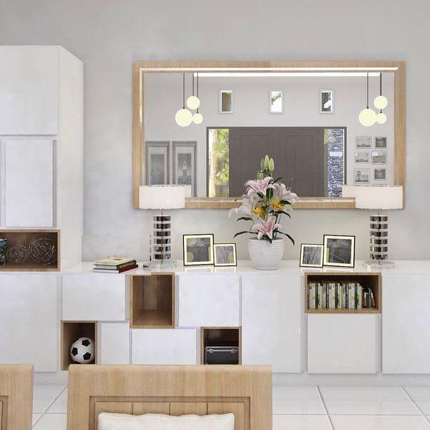 Cupboard and mirror Location : nanga pinoh #vip #vipstudio #vipdesign #interiordesign #interior #indonesia #pontianak #architecture #archilover #houseidea #livingroom