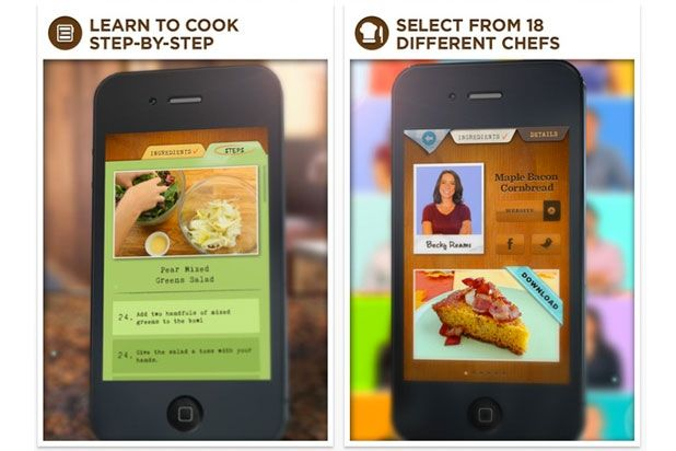 15 Best Cooking Apps for Your Smartphone | Slideshow | The Daily Meal--some good ones here to check out.  Most are paid apps, but priced reasonably.