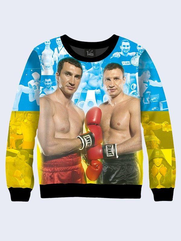 Men's male youthful 3D print sweatshirt Klitschko boxing Long sleeve Made in Ukraine by Vilno on Etsy
