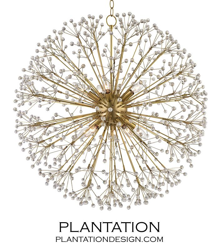 Dandelion Chandelier | Antique Brass