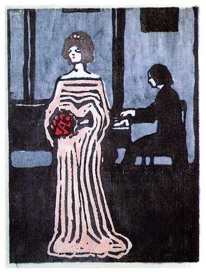 Rouge et Noir a Badem Ciflik: Wassily Kandinsky - The Singer, 1903