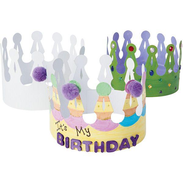 Korony do dekorowania DIY #moje #bambino #urodziny #uroczystosci #fun #kids #creative #decoration  http://www.mojebambino.pl/akcesoria-do-tworzenia-strojow-upominkow-dekoracji-sal/719-korony-do-dekorowania.html