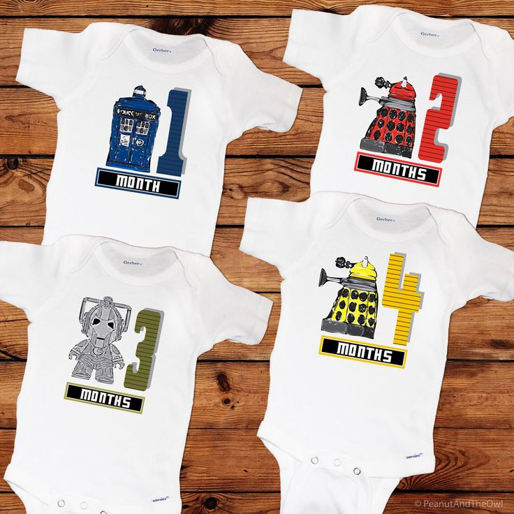 Doctor Who Inspired Monthly Baby Onesie Set, 12 Month Set, Doctor Who Themed Baby Gift by peanutandtheowl on Etsy https://www.etsy.com/listing/216883047/doctor-who-inspired-monthly-baby-onesie