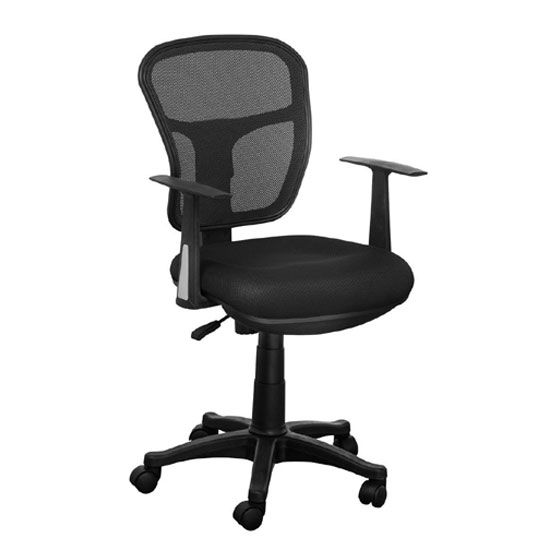 office chair materials. plain chair santo black padded fabric seat with mesh back rest office chair on materials