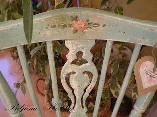 Biljana gasto Romantic cadeira pintado chique
