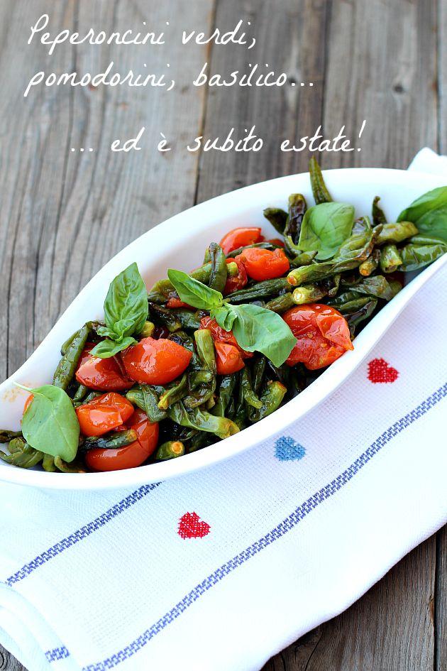 Peperoncini verdi al pomodoro non fritti by Chiarapassion