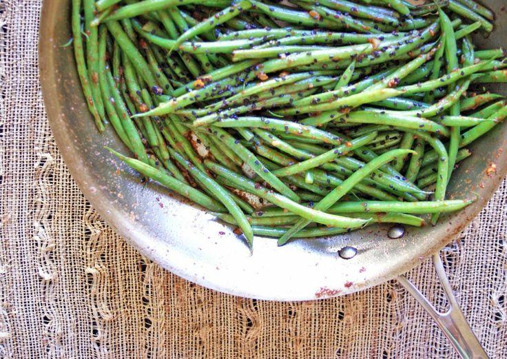 miso butter green beans...sub vegan butter such as Earth Balance