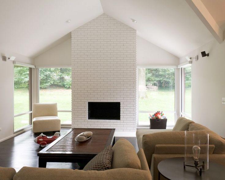 of 30 ideas of stylish white brick fireplace painting