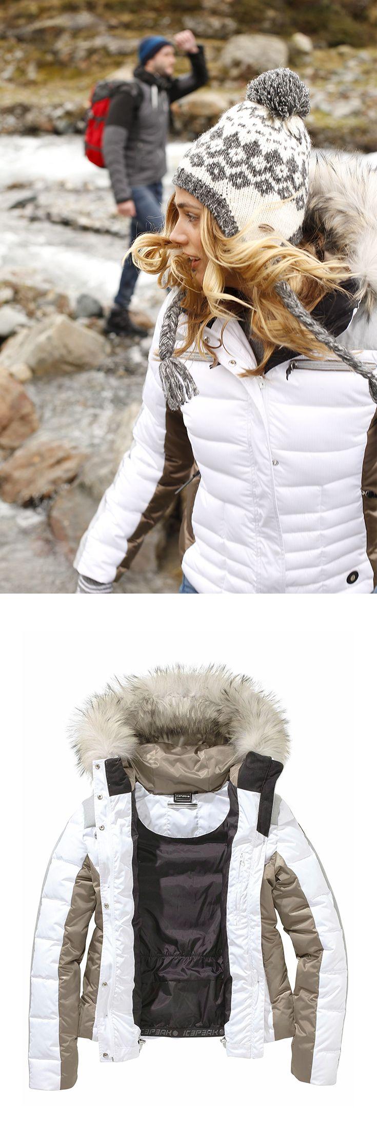 Style meets Skipiste! Mit dieser Skijacke kombinierst du die neuesten Modetrends und eine leicht taillierte Passform mit alle wichtigen Funktionen einer Skijacke: Integriertem Schneefang, Wind- und Wasserdichtheit sowie einem atmungsaktiv-wärmenden Material.