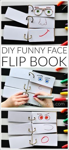 This DIY Funny Face Flip Book is simple to put together and will keep the kids creatively entertained all afternoon. Great summer kids activity.