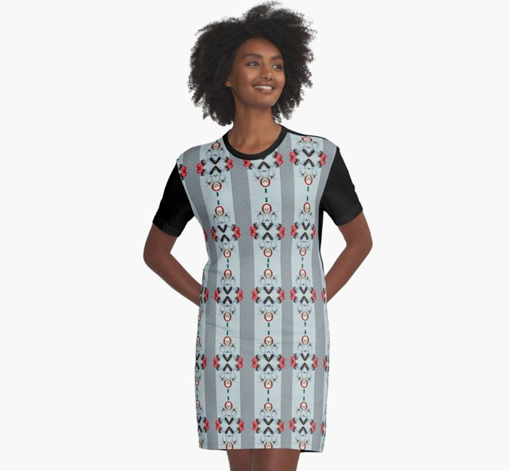 Repeat Pattern Skull Insects & flowers Graphic T-Shirt Dress by Cudge Art https://www.redbubble.com/people/cudge82/works/25298649-repeat-pattern-skull-insects-and-flowers?asc=f&p=graphic-t-shirt-dress