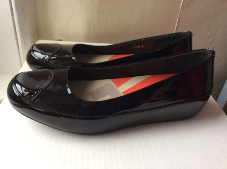 FITFLOP DUE BLACK PATENT LEATHER - SIZE UK 6.5 EU40 US8.5 RRP£85 BNWT