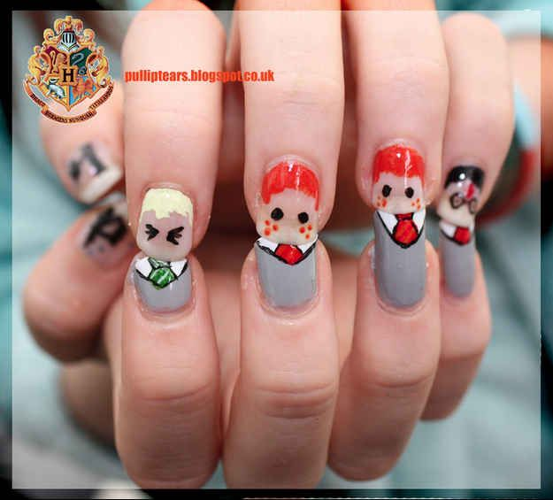 Character Nails | 12 Incredibly Intricate Harry Potter-Inspired Manicures