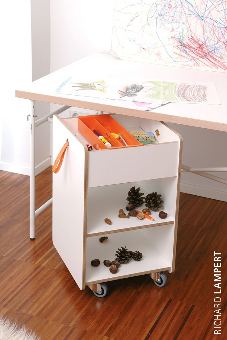 From now on you can store all of your secrets, love letters and missions in a safe place. ›Fixx‹ container by Peter Horn #kidscollection #kidsfurniture #desk #container