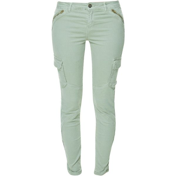 Zara Skinny Cargo Trousers With Zips ($30) ❤ liked on Polyvore featuring pants, jeans, bottoms, calças, light khaki, green pants, zipper cargo pants, skinny leg pants, khaki pants и green cargo pants