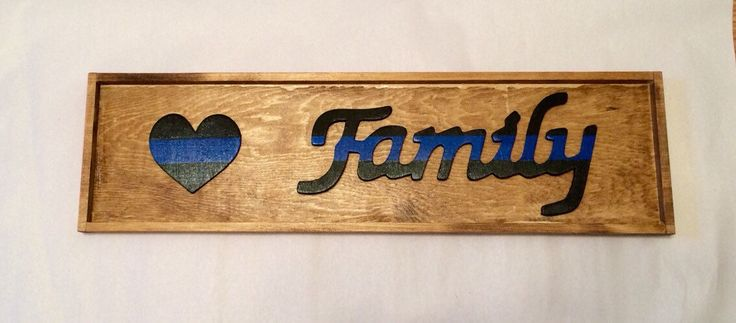 Law Enforcement Family Sign ; LEO family ; police family ; LEOW gift ; gifts for police officers ; police week gift ; police sign ; cop love by CharmingComforts on Etsy https://www.etsy.com/listing/220834068/law-enforcement-family-sign-leo-family