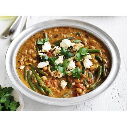 Chickpea, paneer and vegetable curry recipe. Paneer, most often used in curried dishes, originates from northern India; it is a fresh unripened cow's-milk cheese that is similar to pressed ricotta. Don't try to substitute any other cheese, the results just won't be the same.