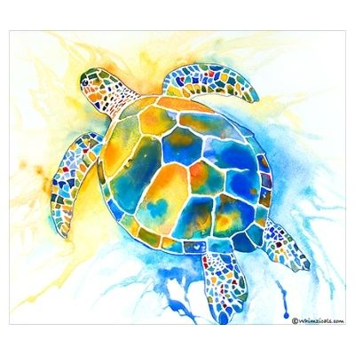 I love sea turtles and would love this as a tattoo.
