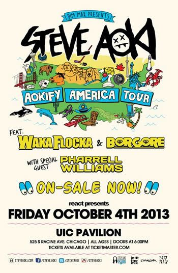 AOKIFY America Tour by DJ Steve Aoki Is Almost SOLD-OUT Get Your Discount Steve Aoki Tickets Below