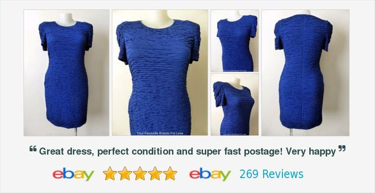 #FrankLyman Size 16-18 US14-16 CAN 16 UK 18 Blue Short Sleeve Stretch #Dress #follow #online