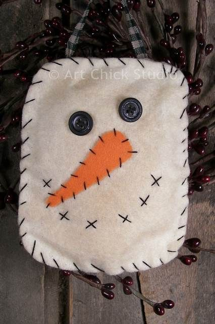 1000 images about primitive fabric crafts on pinterest for Snowman faces for crafts