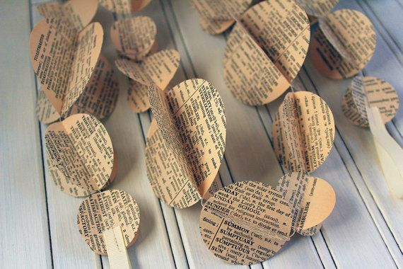 Vintage Dictionary Double Garland 3m or 6m by ALittleBitOfLemon