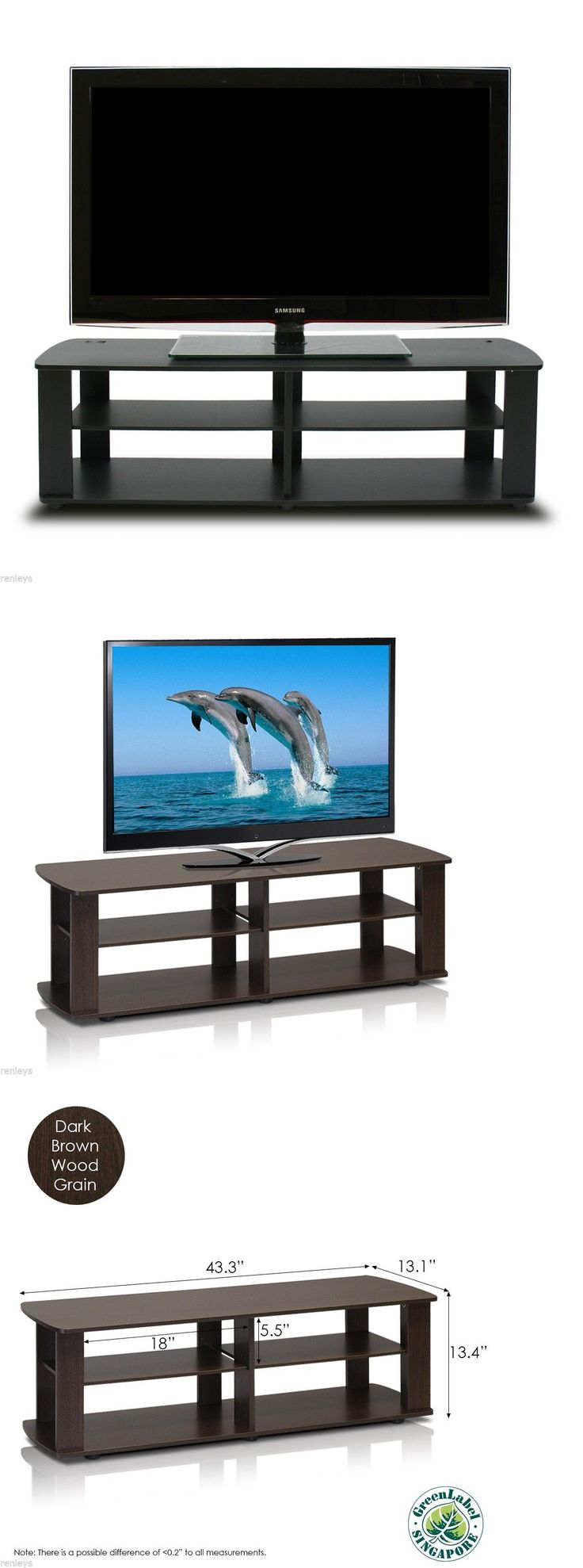 Entertainment Units TV Stands 20488: Black Tv Stand Media Entertainment Center 42 50 60 Inch Flat Screen Television -> BUY IT NOW ONLY: $33.38 on eBay!