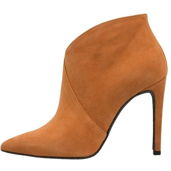 Mai Piu Senza High heeled ankle boots brown (£100) ❤ liked on Polyvore