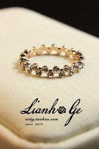 $6.72 United grid real shot Korea purchasing genuine / over drilling wavy yellow tea Ring / Ring / Korean jewelry