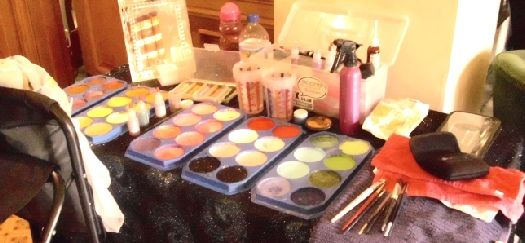 Professional Face Painting Kit & set up