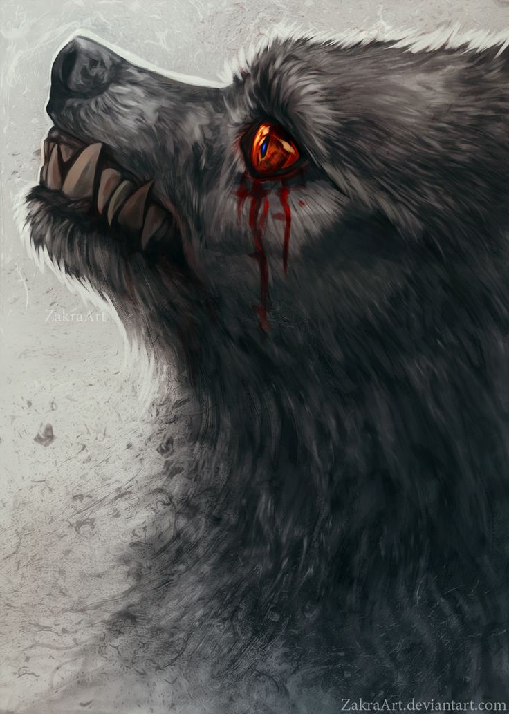 crying silently by ZakraArt dire wolf puppy dog vampire ...