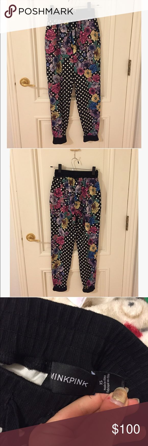 Abstract Printed MinkPink Joggers So cute and in excellent used condition. Have a really cool print and in a jogger/sweatpants style. Size women's x-small. All sales final (similar ones spotted on Cara Delevingne) MINKPINK Pants Track Pants & Joggers