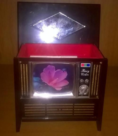 Buy Vintage TEDELEX Mini Colour TV Musical Box Model No.TVM-22. Made in Japan, Working for R1.00