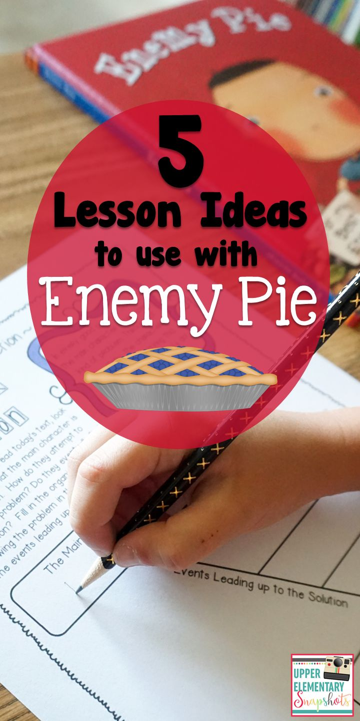 Enemy Pie is the perfect read aloud for upper elementary. Here are some Lesson ideas for using Enemy Pie in Reading and Writing.