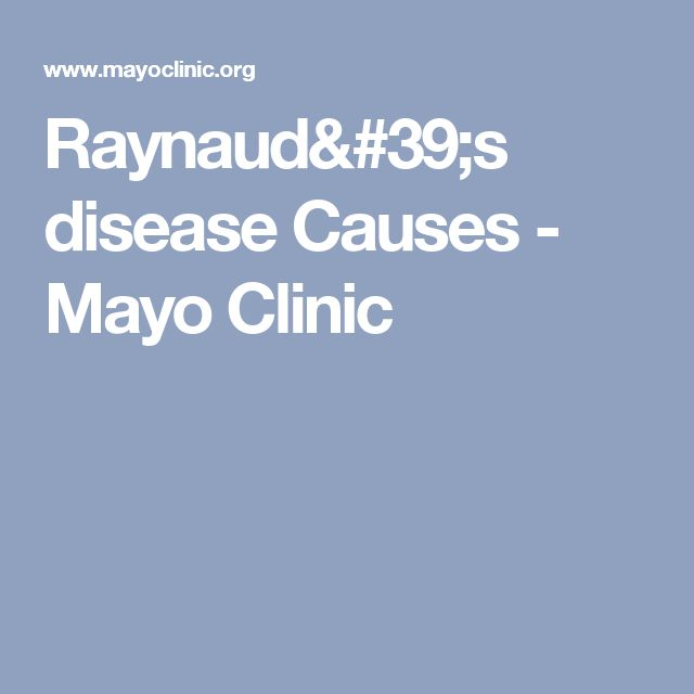 Raynaud's disease Causes - Mayo Clinic