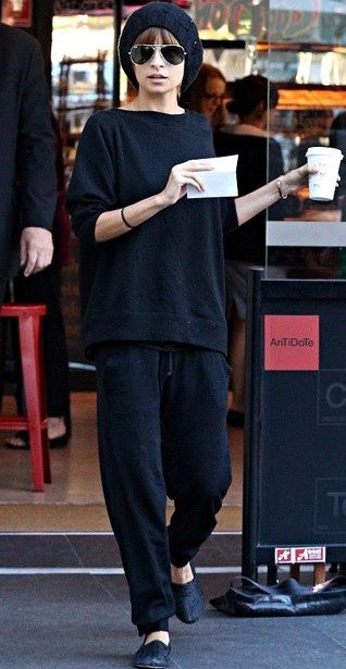 nicole richie can even make sweats look good.