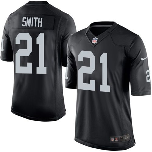 $24.99 Youth Nike Oakland Raiders #21 Sean Smith Limited Black Team Color NFL Jersey