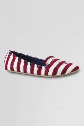 Nautical Knit Skimmer Slippers - Lands' End. Want these!