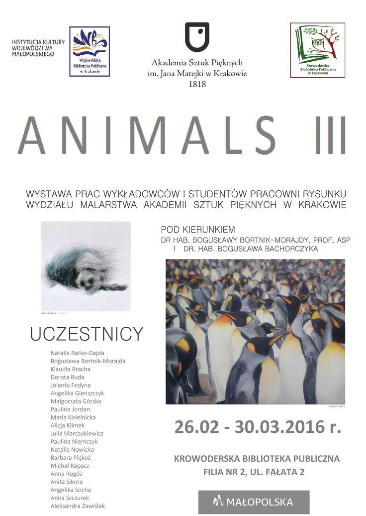 Filia nr 2 przy ulicy Fałata 2 zaprasza na wystawę prac wykładowców i studentów Pracowni Rysunku i Malarstwa Akademii Sztuk Pięknych w Krakowie. Wystawa czynna do 30 marca 2016.