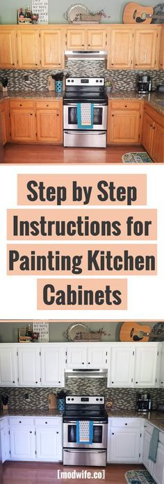 Kitchen remodel: step by step instructions for painting kitchen cabinets!