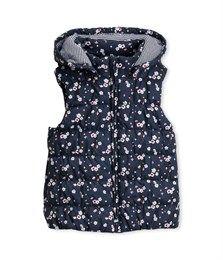 Doudoune fille sans manches à capuche bleu Noctambule/ blanc Multicolore / taille 5 ans / Petit Bateau - 65€