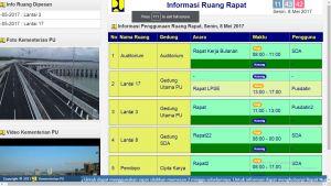 Papan Informasi Jadwal berbasis Layar Lebar / TV