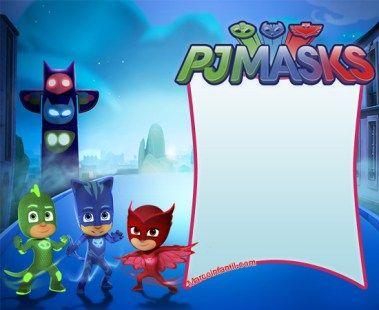 Marcos de Pj Masks o Héroes en Pijamas | Marcos Infantiles
